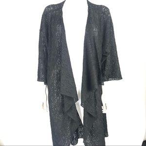 LulaRoe Large Shirley Kimono Cardigan Open Front